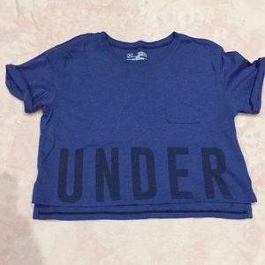 Under Armour crop shirt size small